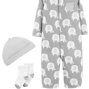 Carter's Gray Elephant 3-Piece Layette Set